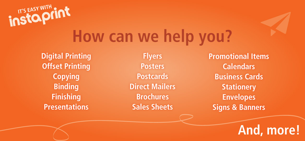 A suite of printing services